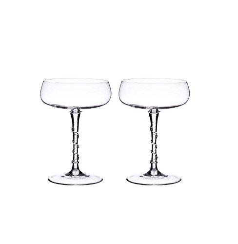 Juliska Champagne Coupes Set of 2 Amalia Clear in Gift Box by Juliska