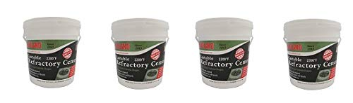 Rutland 12.5 lbs Tub Castable Cement - Mix with Water (Fire Clay) 2200 Degree (4-(Pack))