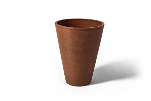Algreen Valencia Round Planter Pot,10 x 13-Inch Height, Textured Terra Cotta
