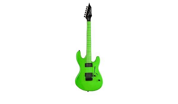 Dean Guitars Custom Zone - Guitarra eléctrica (incluye 2 pastillas Humbucker), color verde fluorescente: Amazon.es: Instrumentos musicales