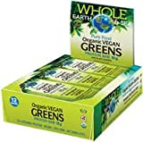 Whole Earth & Sea Organic Vegan Greens Protein Bars Natural Factors 12 Bars (1 .75g) Box
