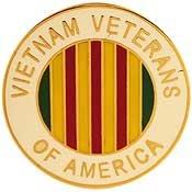 Metal Lapel Pin - Vietnam War Badge/Pin - Vietnam Veterans Of America, Ribbon
