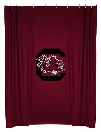 Sports Coverage South Carolina Gamecocks Shower Curtain (Curtain Gamecocks South Carolina Shower)