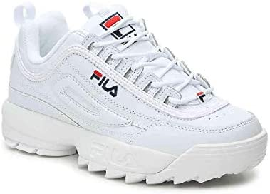 Carr Crof Basket Disruptor II 2 Mujer Low Baskets Zapatillas,Casual Shoes Fitness Sports Running Sneaker Blanco