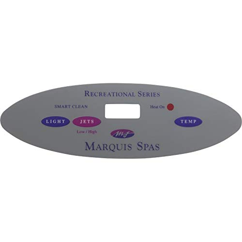 Marquis Spas Overlay, Recreational Series, 3 Button, Lt, P1, Temp
