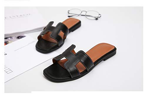 Women Summer Ladies Sandals Ladies Sandals Flat Shoe Slides 34-43,C2,38 (Counter Newcastle)