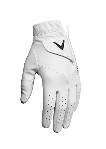 (Callaway Golf Women's Tour Authentic Premium Cabretta Leather Golf Glove, Worn on Left Hand, Large)