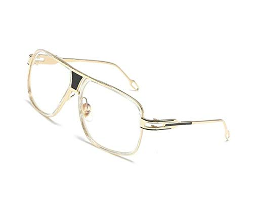 Gafas FlowerKui Gafas de UV400 sol Gafas Mujeres sol Protección Retro Gafas al aire Hombres de Decoración Golden sol de libre 4Iq4f
