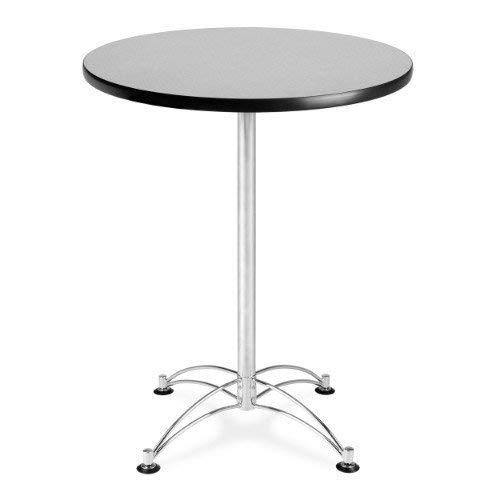 OFM CCLT30RD-GRYNB Round Cafe Table, Chrome Base, 30