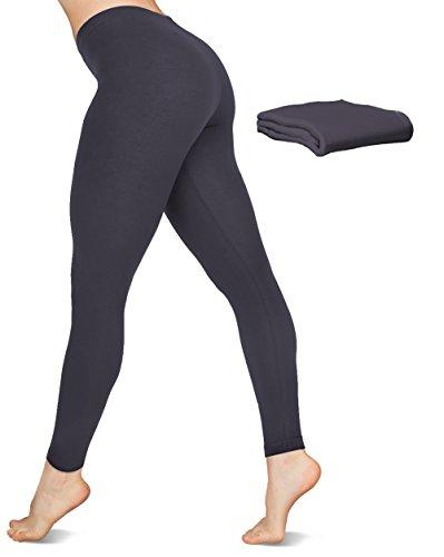 American Apparel Spandex cotone Jersey Leggings Asphalt - 2 Pack