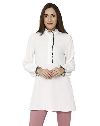 VERO MODA Women Solid White Casual Top