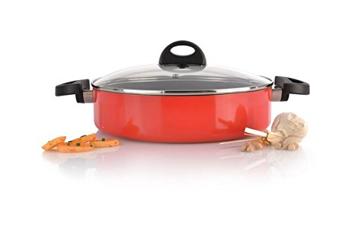BergHOFF 26 cm Aluminium Eclipse Covered Two Handled Saucepan, Red 3700117