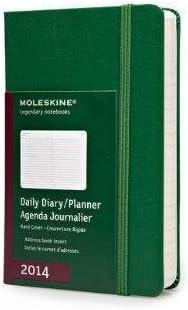 Moleskine 2014 Planner 12 Month Daily Oxide Green Pocket