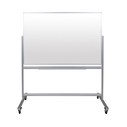 Luxor Double-Sided Mobile Magnetic Glass Marker Board (60