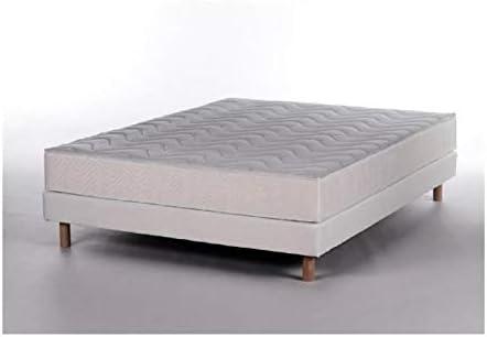 Maine conjunto colchón + somier 140 x 190 cm 21 cm espuma ...