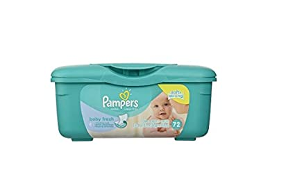 Pampers Baby Wipes Tub Fresh Baby Fresh 72-Count