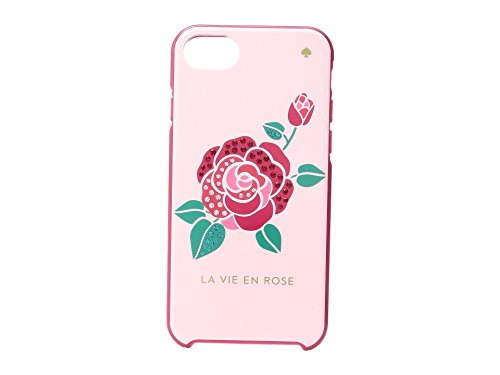 - Kate Spade New York Women's Jeweled La Vie Envelope Rose Phone Case for iPhone 7 Pink Multi Cellphone Case