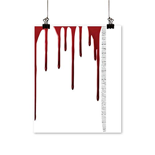 Single Painting Horror Spooky Halloween Zombie Crime Help me Themed Red White Office Decorations,28