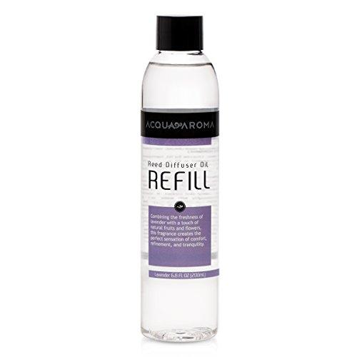 Acqua Aroma Lavender Reed Diffuser Oil Refill 6.8 FL OZ (200ml) Contains Essencial Oils by Acqua Aroma