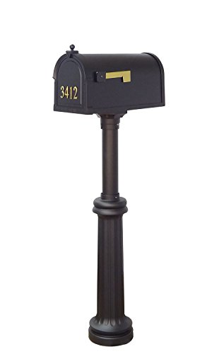 Special Lite Products Company Berkshire Curbside Mailbox With Front Address Numbers And Bradford Mailbox (Bradford Mailbox Post)