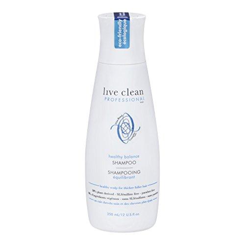 Live Clean Shampoo - 12 Oz (350ml) (Professional  Healthy Scalp Balancing Shampoo)