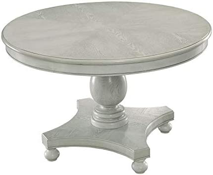 Amazon Com Furniture Of America Chlido 48 Inch Round Wood Dining Table In Antique White Tables
