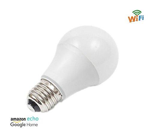 Smart Wifi bombilla LED, multicolor, Dimmible, no requiere Hub, aplicación gratuita mando a distancia, funciona con Alexa, Google casa, ifttt.