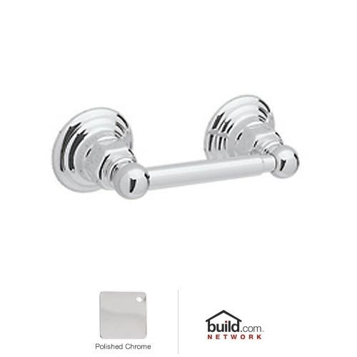 Rohl ROT18APC Country Bath Single Spring Loaded Toilet Paper Holder in Polished Chrome