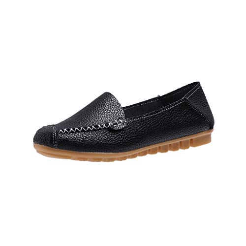 Spring and Autumn Embossed Women's ShoesDuseedik Mother Shoes Flat - Bottomed Beanshoes Walking Shoes Black