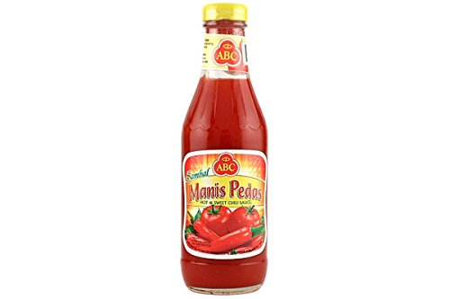 ABC Sambal Manis Pedas (Hot & Sweet Chili Sauce) - 11.5fl Oz Pack of 3 By KC Commerce (Sweet Abc Chili Sauce)