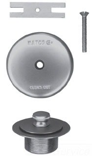 Watco 58290-PB Lift & Turn Polished Brass Single-Hole Overflow Plate Assembly