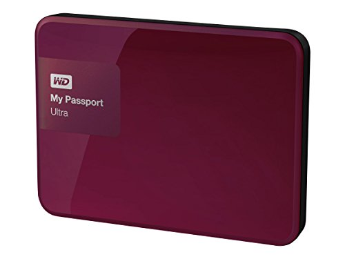 WD 1TB Berry My Passport Ultra Portable External Hard Drive - USB 3.0 - WDBGPU0010BBY-NESN [Old Model]