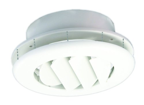 JR Products ACG150DPW-A Polar White Adjustable Ceiling Vent with 1.50'' Collar