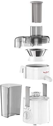 Moulinex JU3701 Frutelia+, Extracteur de jus à froid, doté d'une grande ouverture, facile à nettoyer, 2 vitesses et mode Pulse, 350 W