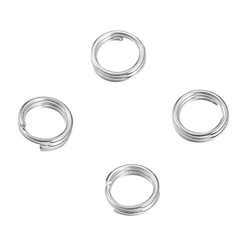 YF Sterling Silver Split Jump Ring Connector Charm Jewelry Findings,20pcs 5.0mmx0.5mm