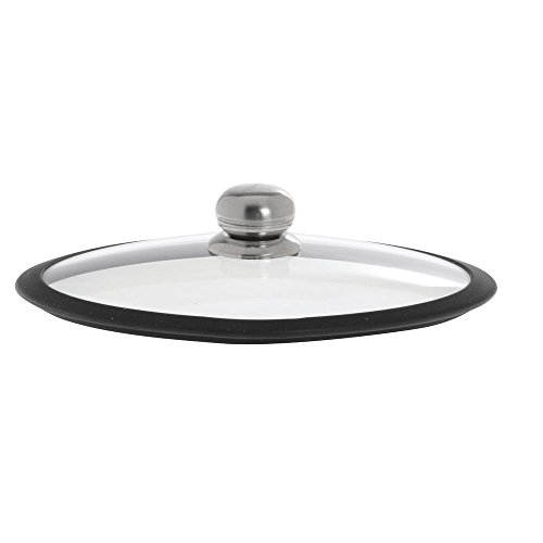 With Lid Pan Paella (Fundix Classic Glass Paella Pan Lid with Silicone Rim - 14 1/4