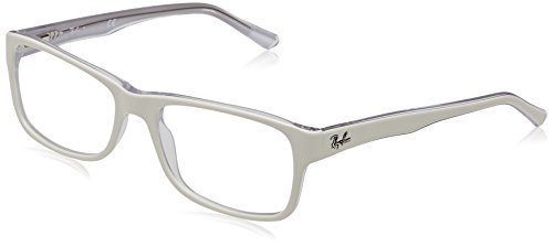 Ray-Ban RX5268 Eyeglasses Top White On Trasparent - Glasses White Ray Ban