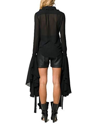 Noir Femme Laurent Chemise Soie 571609y059r1000 Saint qgwa1FBq