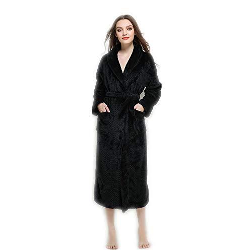 Lungo Camicie E Uomini Da Notte Donne Vestito Di Xgtsg Per Black Allungato Accappatoio Colore Lovers'nightgowns RZqnxp0