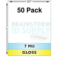 7 Mil Gloss Full Sheet Laminates - 50 Pack