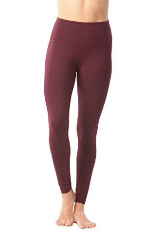 90 Degree By Reflex High Waist Power Flex Legging – Tummy Control - Cherry Jubilee - Large
