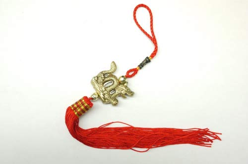 Red Feng Shui Golden Dragon Tassels for Good Luck and Protection