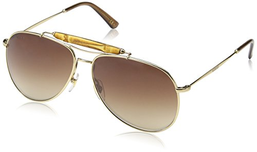 Gucci GG2235/S Sunglasses-0J5G Gold (OH Brown Gradient Lens)-59mm