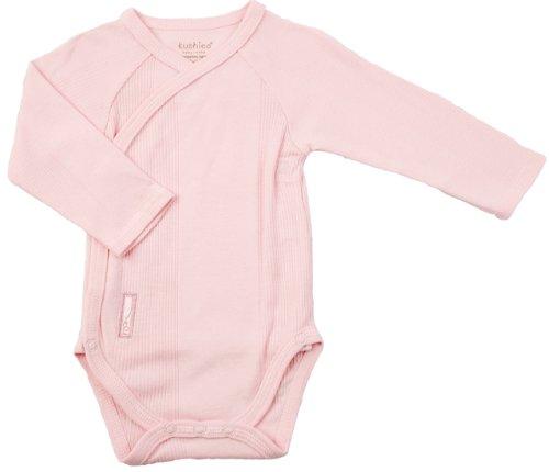 Kushies Long Sleeve Wrap Bodysuit, Pink, Preemie