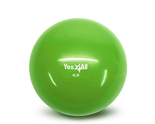 Yes4All Soft Weighted Medicine Toning Ball - Green - 4 lbs - ²J1RUZ