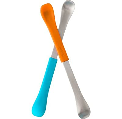 Boon 298 2 In 1 Asst Swap Dual Ended Feeding Spoons In Tangerine by Boon