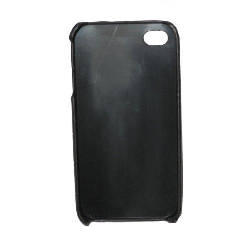 Cas de l'iPhone 4 / 4S: Texture style Stone Design Peau Hard Case protecteur pour Apple iPhone 4 / 4S - noir