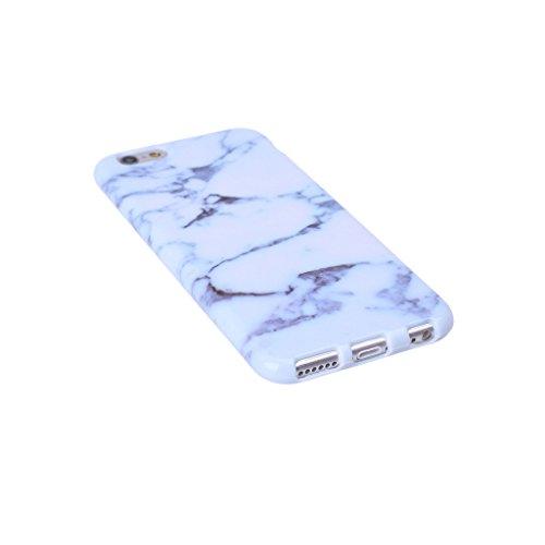 ZXLZKQ pour iPhone 7 Etui Ultra Mince Blanc Brun Naturel Marbre Motif Souple TPU Silicone Case Housse Coque pour Apple iPhone 7 (non applicable iPhone 7 Plus)