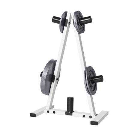 CAP Barbell' 2'' Plate Hole Tree Olympic Plate Rack in Black/White