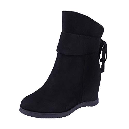 FORUU Platform Heels Women Soft Thick High Heel Platform Boots Increase Within Boots